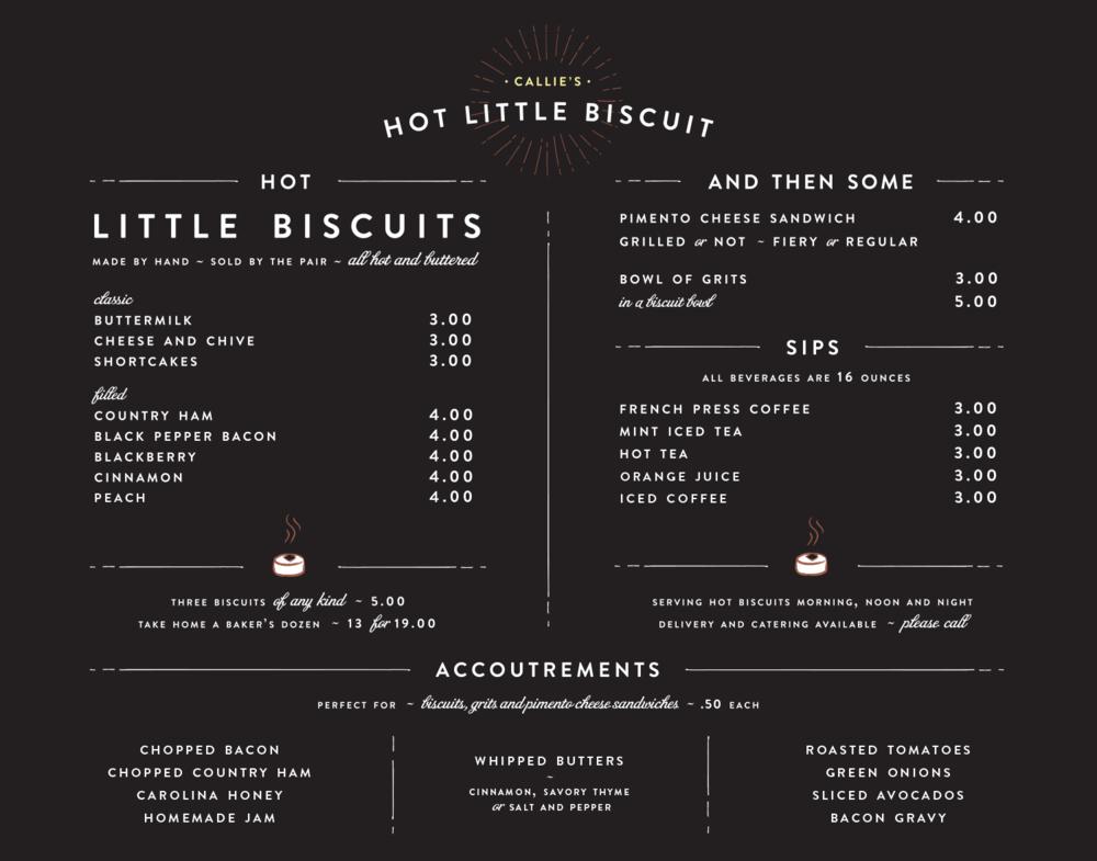 Hot Little Biscuit - Atlanta Menu