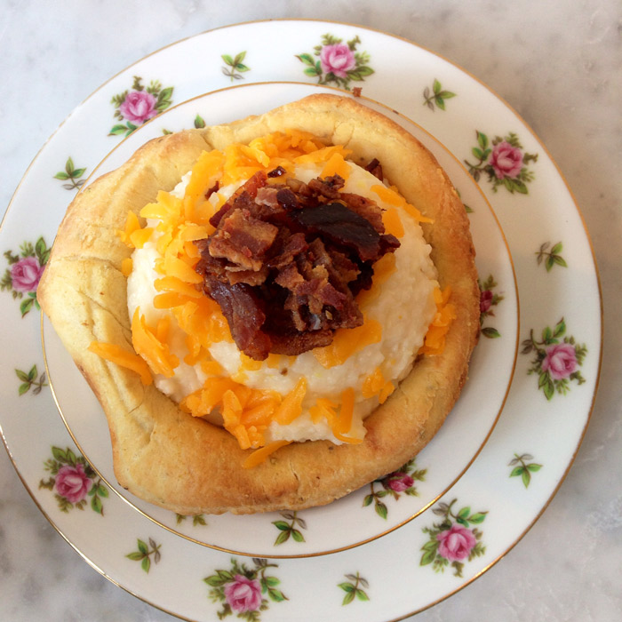 At Hot Little Biscuit, we serve our grits in a biscuit bowl!