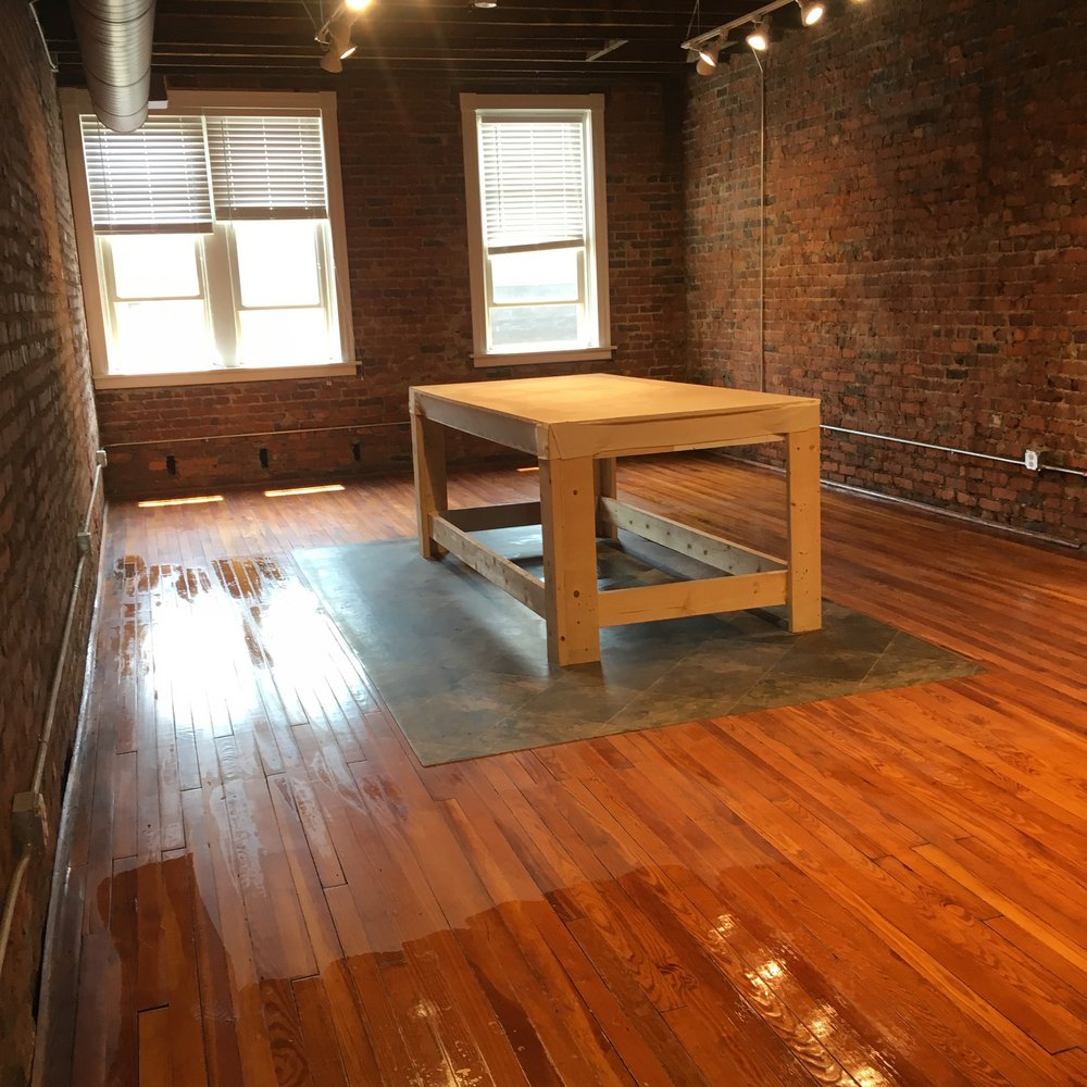 Goodbye, beautiful studio at Shockoe Bottom Clay!!!