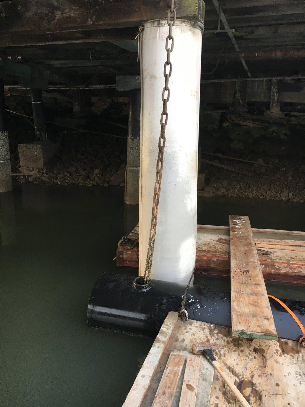 Fiber Reinforced Polymer FRP structural pier repair pile jacket.JPG