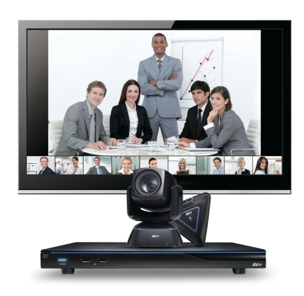 Video Conference System comes with 4 sites conferencing and PC presentation