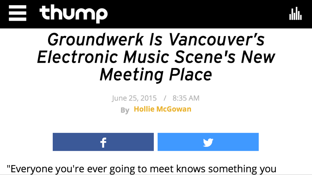 Groundwerk Thump VICE interview 2015