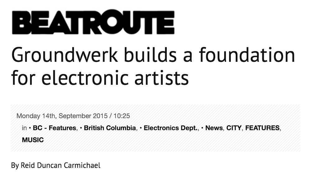 Groundwerk Beatroute interview 2015