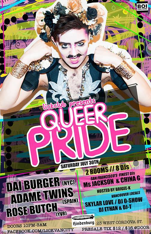 LICKCLUB PRESENTS QUEER PRIDE AT HINDENBURG