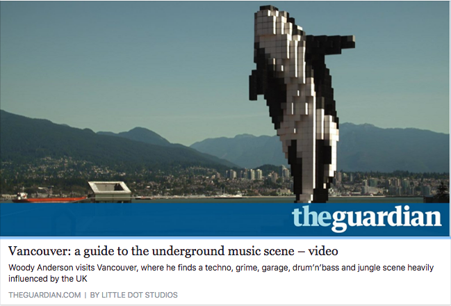 Groundwerk in The Guardian for Canada's Music Cities: Vancouver Underground Music