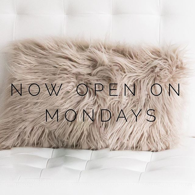 Big news! // We are now open Mondays 9AM-5PM at our Waterfront location! #visitus #winnipeg #wink #winkwpg #microblading #browsonfleek #brows #lashextensions #lashes #lashartist #nails #manicure #facial