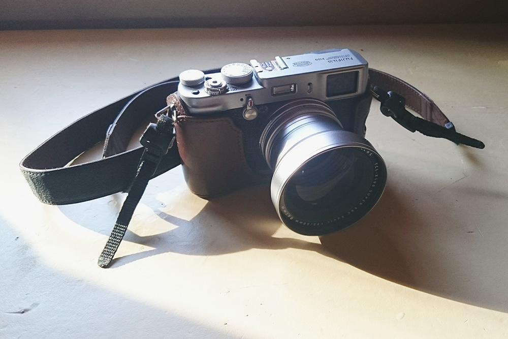 My precious Fuji I purchased four years ago. It's like my purse but take photos.