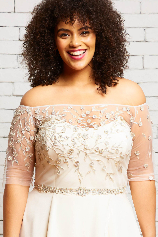 36A. Hazel-Front-Rebecca Schoneveld-Silver_Embellished_Off_The_Shoulder_Alternative_Wedding_Style.jpg