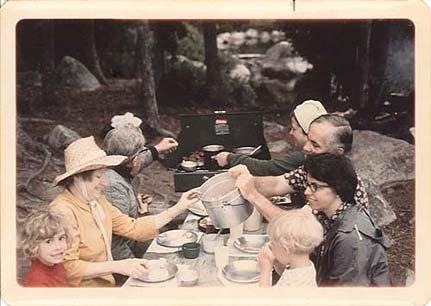 Dinner time on Sarah Lake.Boundary Waters, circa 1974.