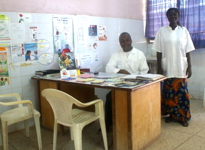Doctor's office at treatment center in Ivory Coast