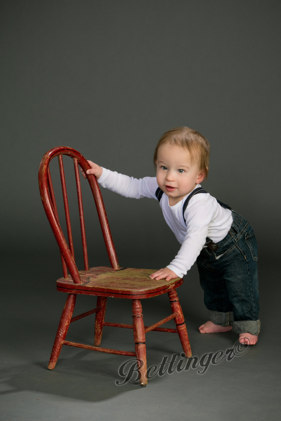 - He loved pushing the chair across the studio.