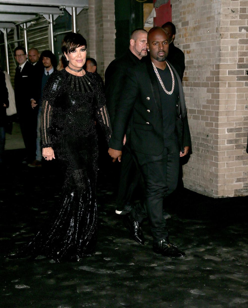Kris Jenner and Corey Gamble at Gilded Lily 2016 Met Gala Balmain After Party
