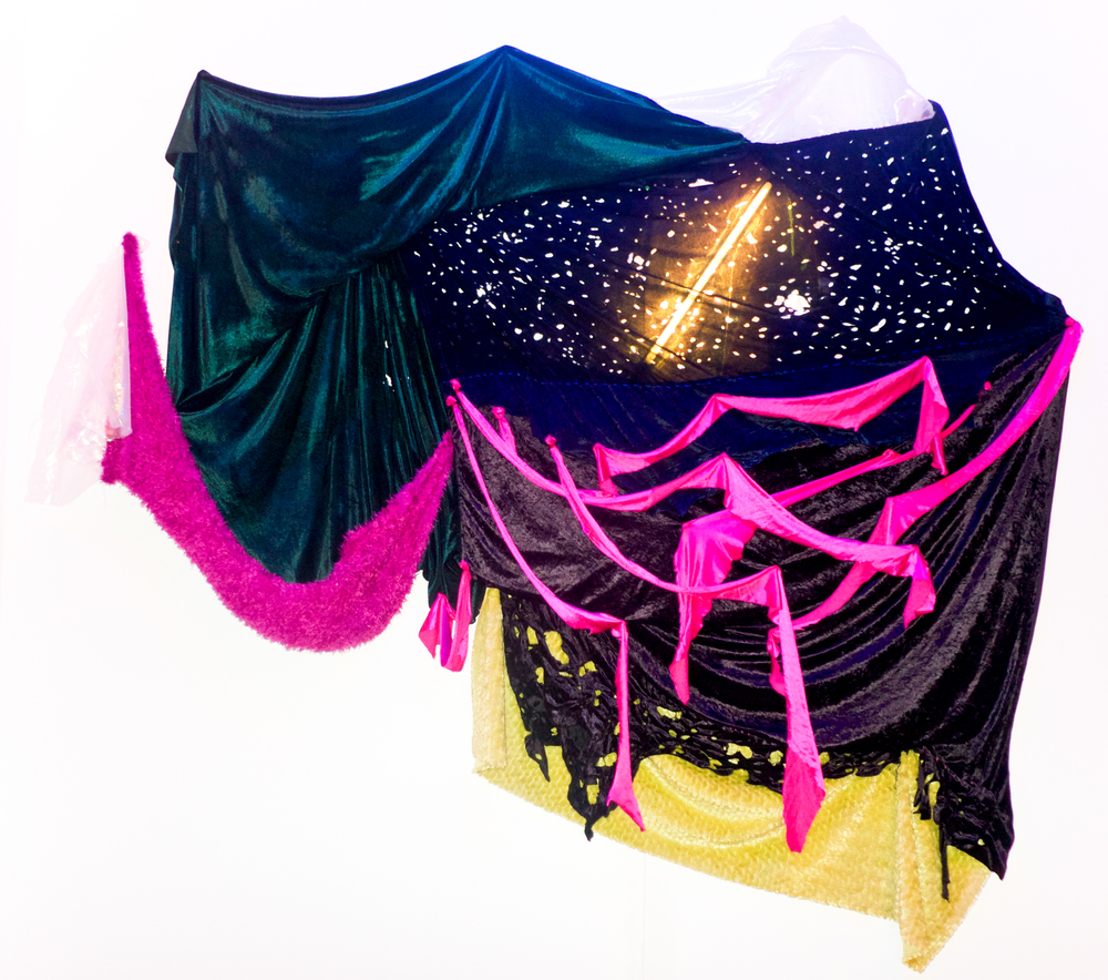 Title : New Feelings   Artist : Gail Vicente and Tanya Villanueva   Date : 2015   Medium : Found textiles, T-5 lights   Courtesy : Courtesy of the Artists and Project 20