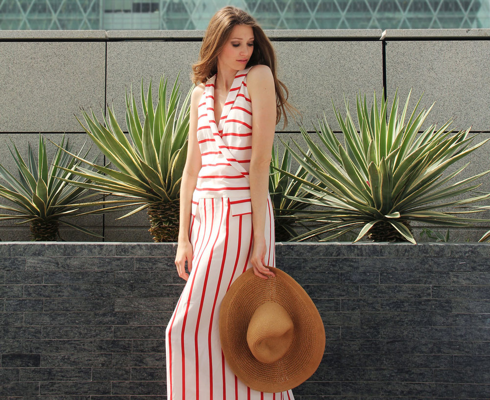 Elena Burba Stripe Beach Dress
