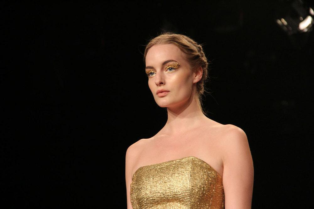 Hussein Bazaza Gold Makeup 2016