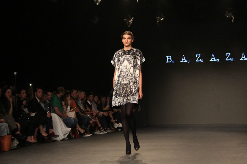 Hussein Bazaza Printed Dress 2016