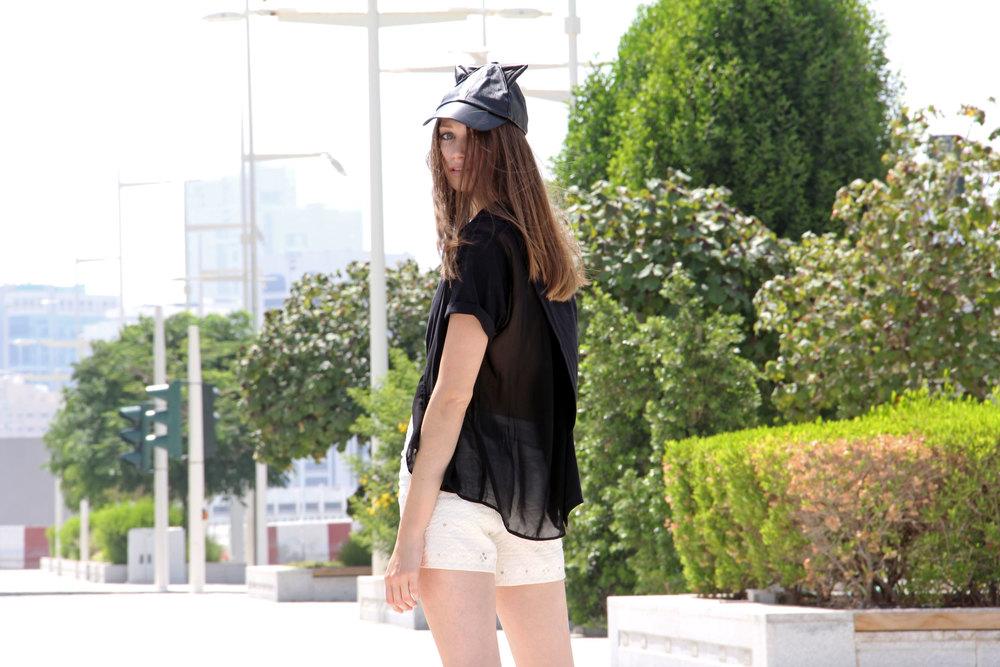 Top:  Deborah Henning  // Shorts: Anthropologie // Hat:  Shopbop