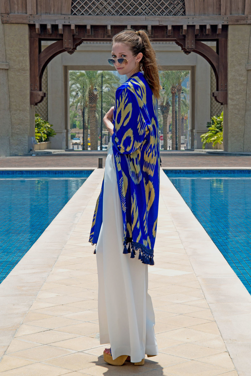 Chapan: SHADI by Dilbar & Sitora / Pants: Carolina Herrera / Photo by: Nathan Dunn