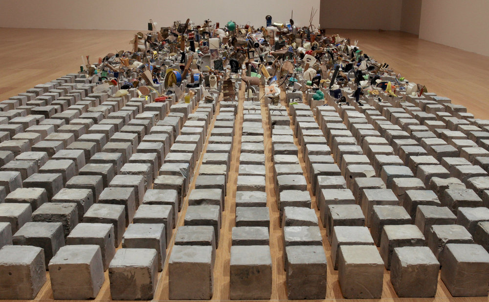 Hussain Sharif,  Cement with Mixed Media , 2000, Mixed Media, Dimensions Variable