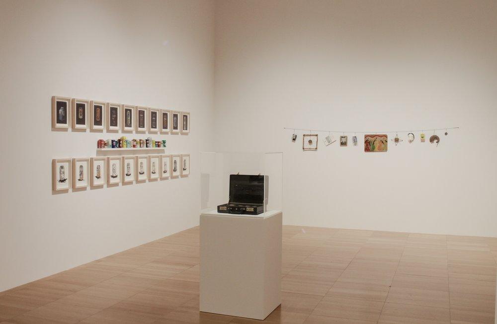 Installation view of Abdullah Al Saadi's works | Photo Courtesy NYU Abu Dhabi Art Gallery