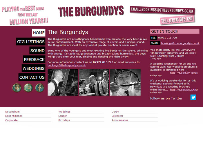 The burgundys wedding band