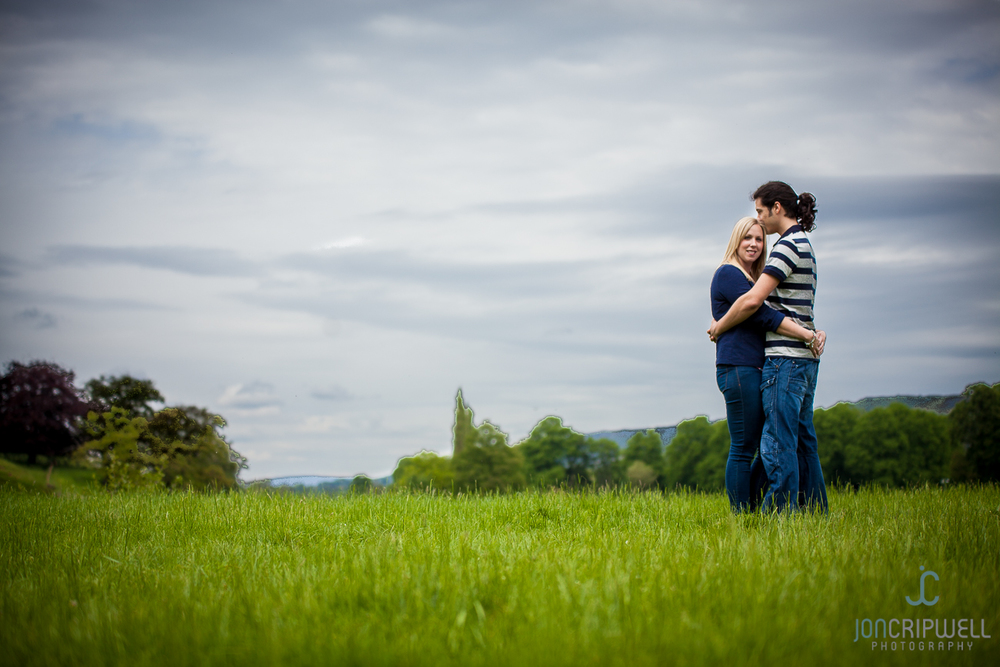 Derbyshire pre-wedding shoot at Chatsworth