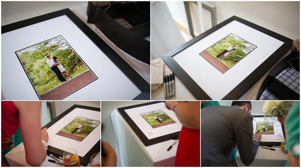 Signing frames are an alternative to a wedding guest book