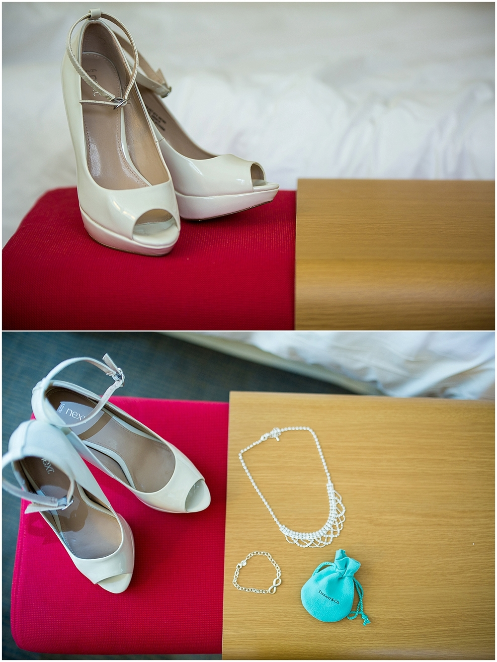 bride's shoes and jewellery - Sheffield Wedding Photography