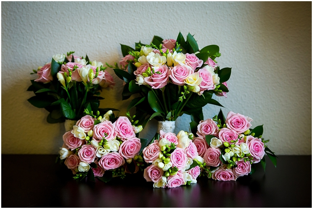 bridal bouquets pink and white - Sheffield Wedding Photography