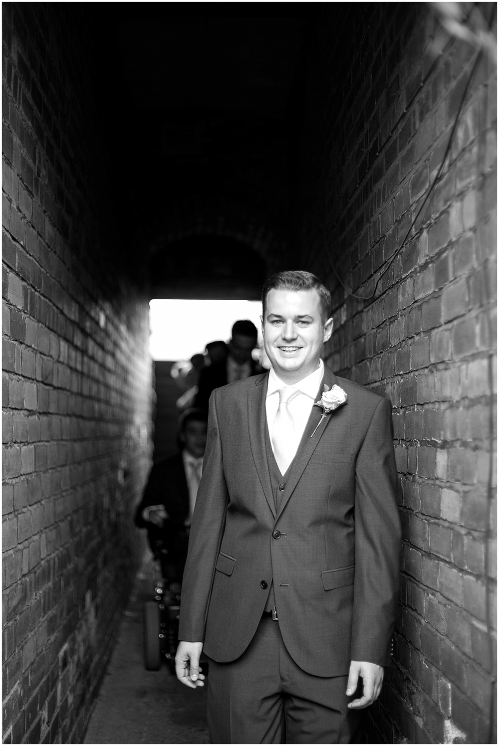 the groom on the way to church - Sheffield Wedding Photography