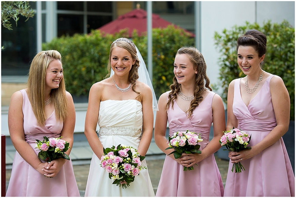 bride and bridesmaids - Sheffield Wedding Photography