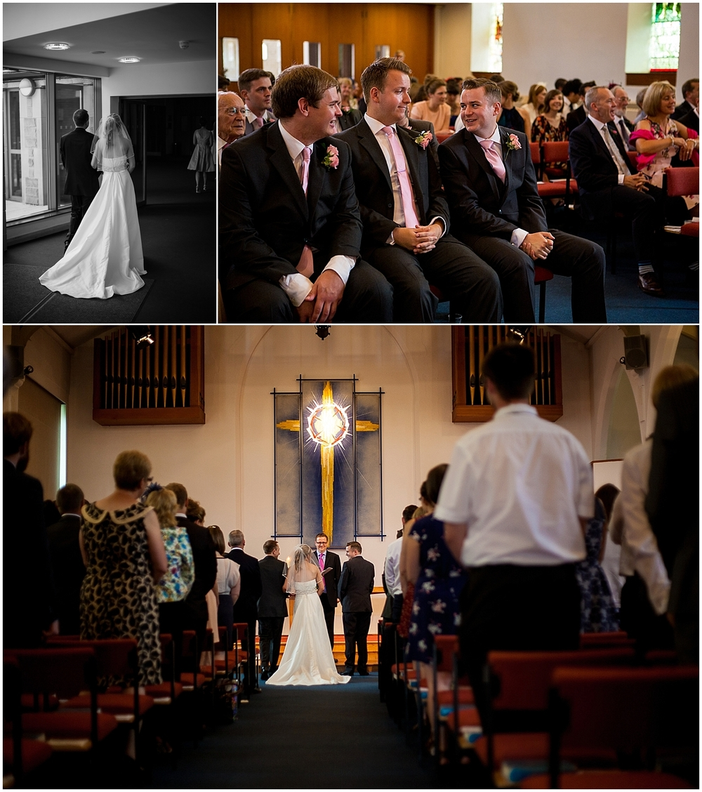 the marriage ceremony at St Thomas Crookes - Sheffield Wedding Photography