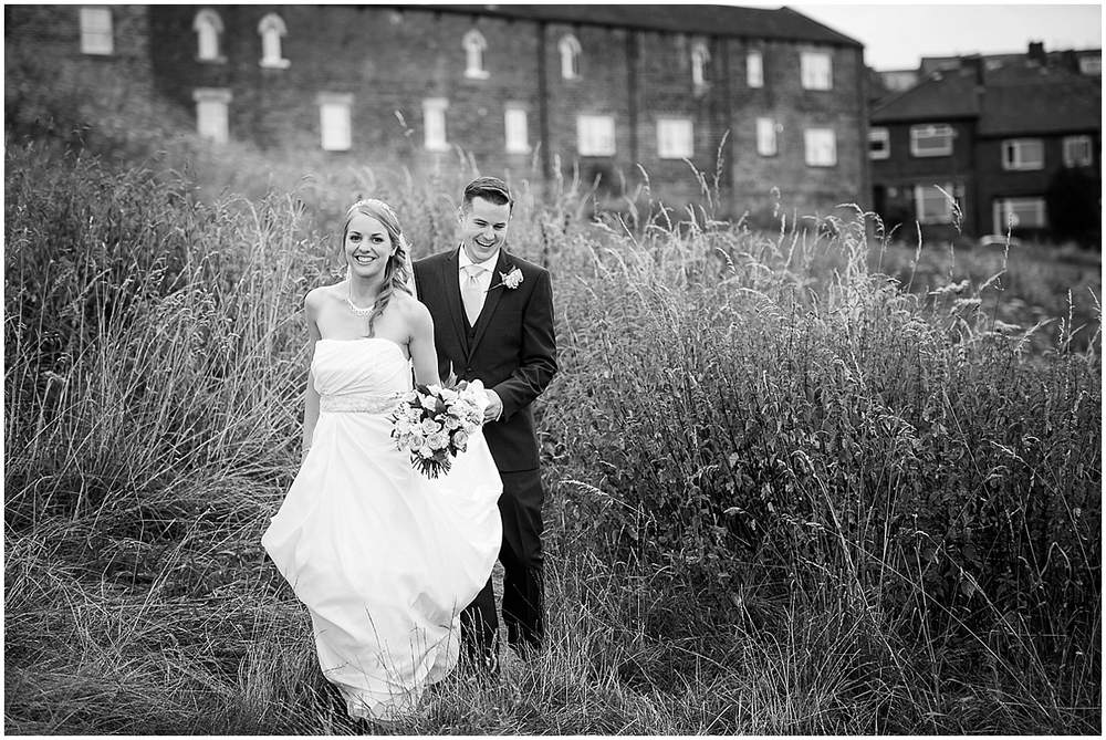 Classic black and white bride and groom - Sheffield Wedding Photography