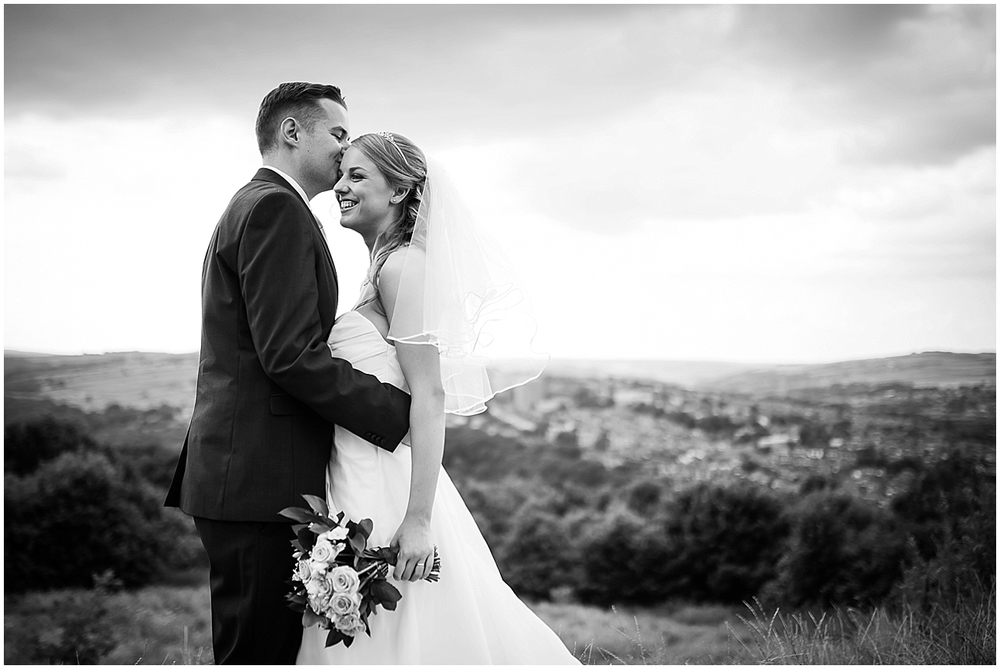 Bride and groom at Bole Hill - Sheffield Wedding Photography