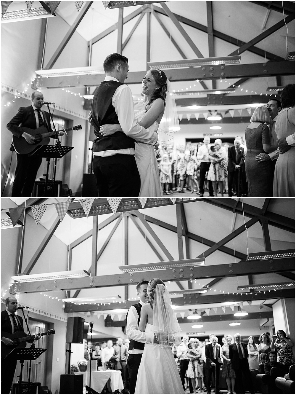 First dance black and white - Sheffield Wedding Photography