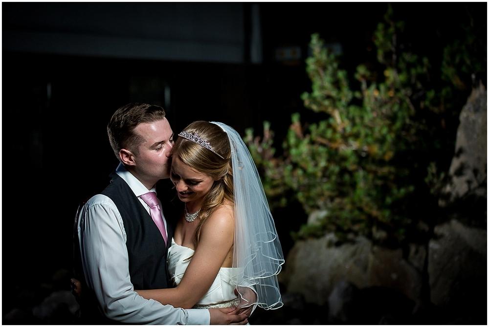 Evening wedding portrait - Sheffield Wedding Photography