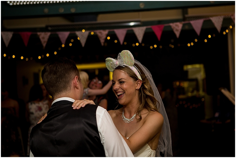 Fun first dance photo - Sheffield Wedding Photography