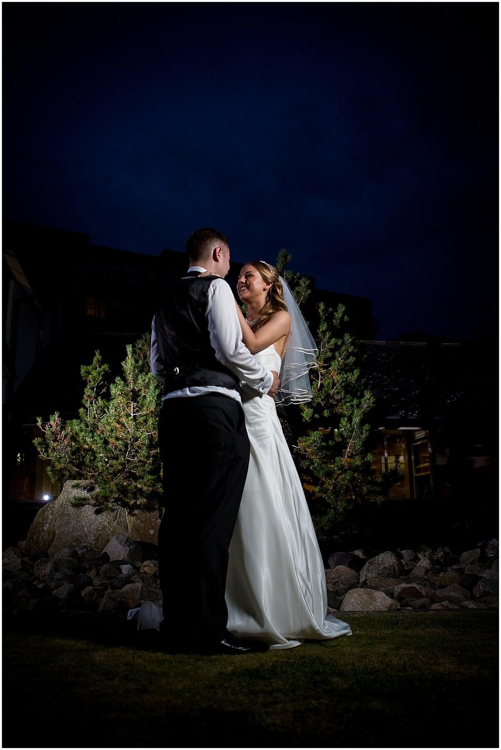 Gorgeous nighttime wedding photo - Sheffield Wedding Photography