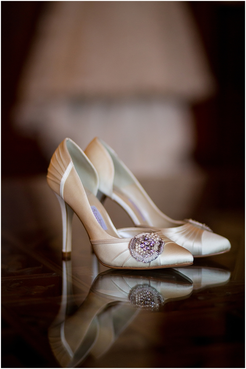 Wedding shoes at Colwick Hall - Derby Wedding photographers