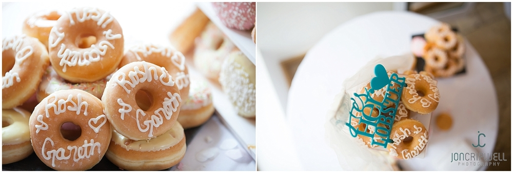 Iced donut wedding cake