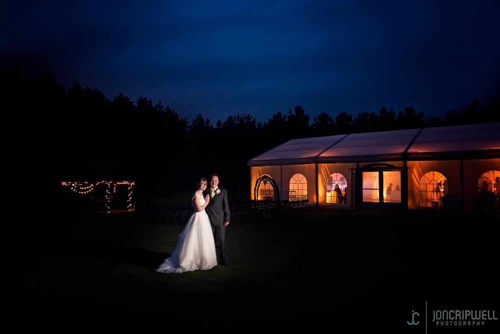 Rosliston Forestry Centre Wedding Evening portrait in the Glade