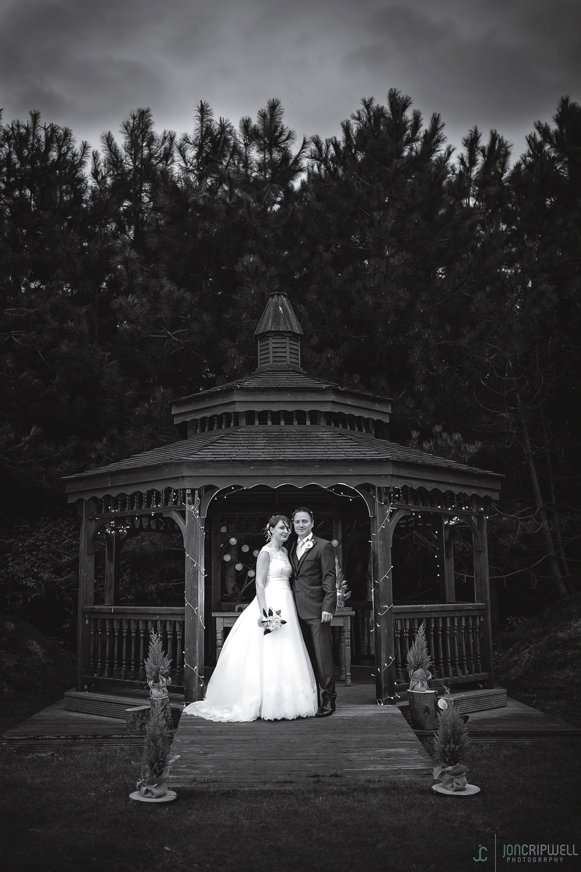 Rosliston Forestry Centre Wedding black and white portrait