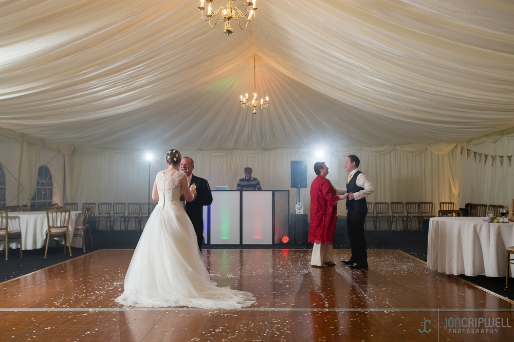 Rosliston Forestry Centre Wedding first dance in the marquee