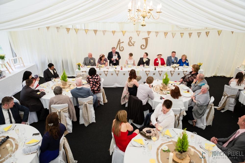 Rosliston Forestry Centre Wedding marquee reception