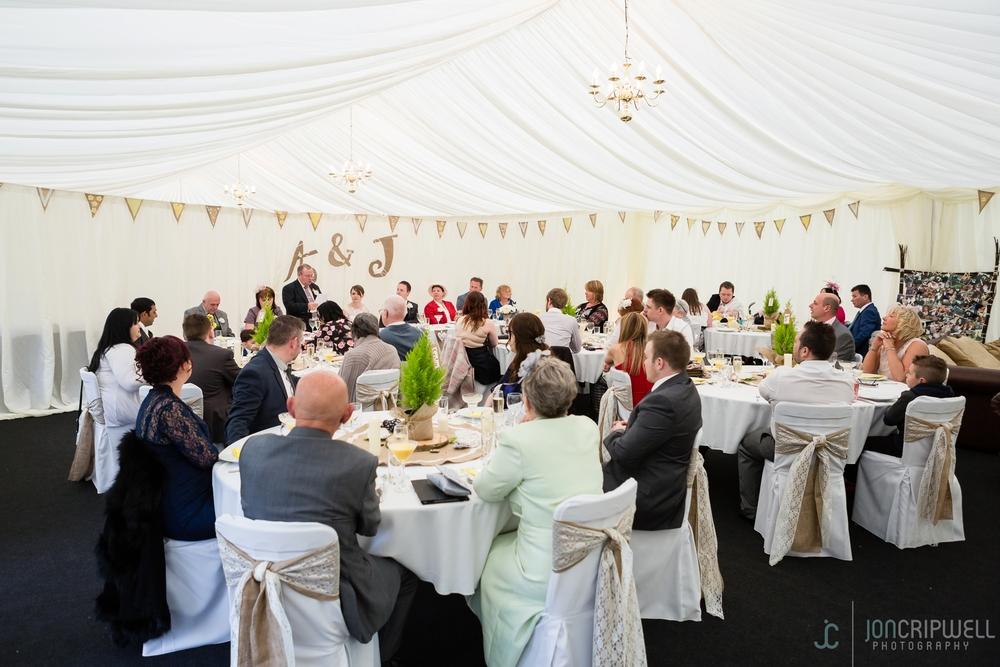 Rosliston Forestry Centre Wedding marquee wedding breakfast