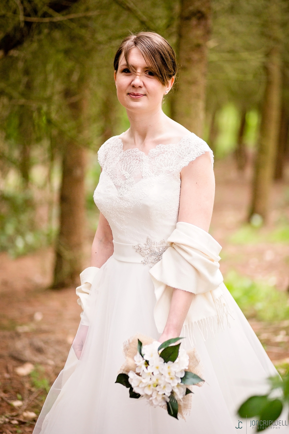 Rosliston Forestry Centre Wedding photography bride in forest