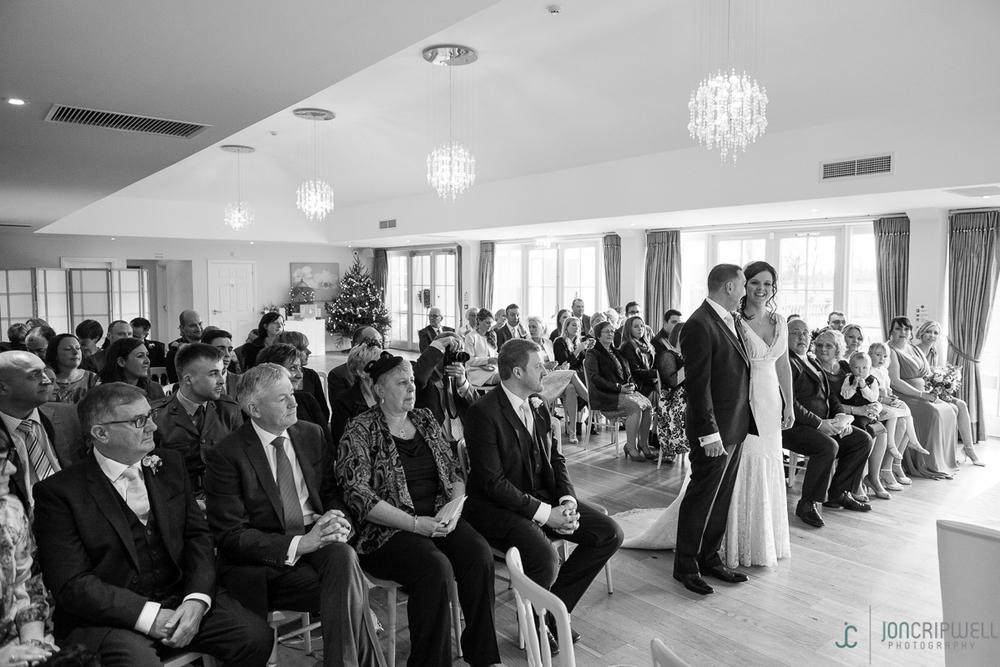 Wedding ceremony at Kelham House