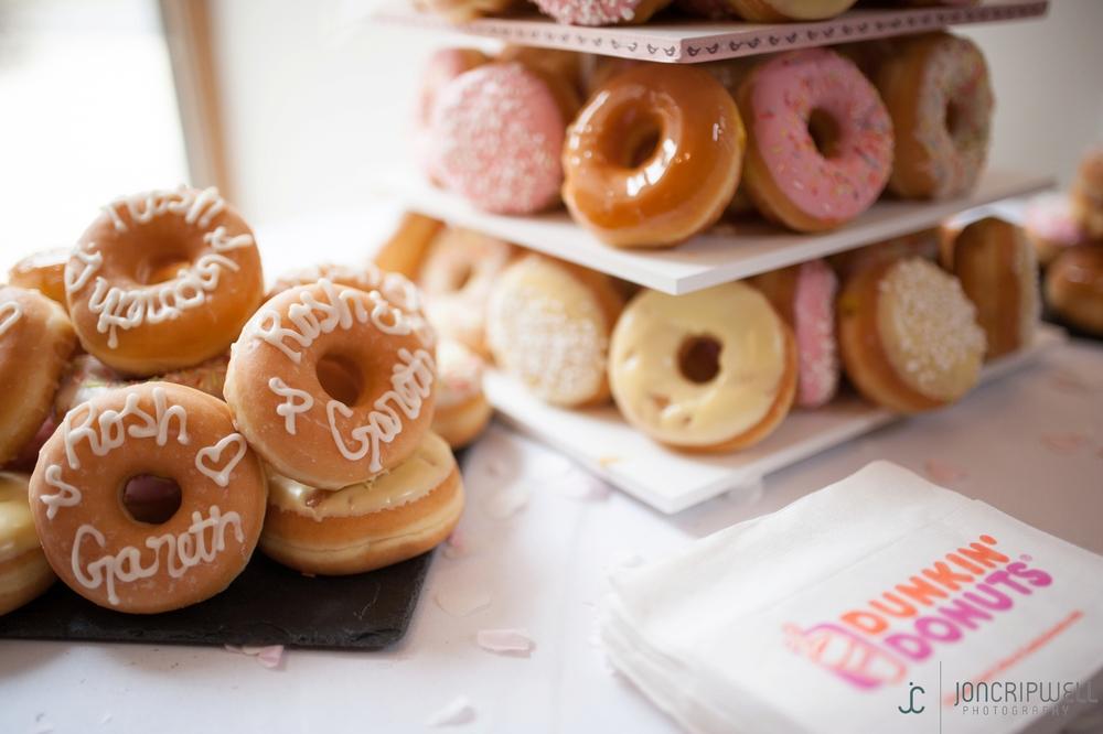 donut wedding cake derbyshire wedding photography