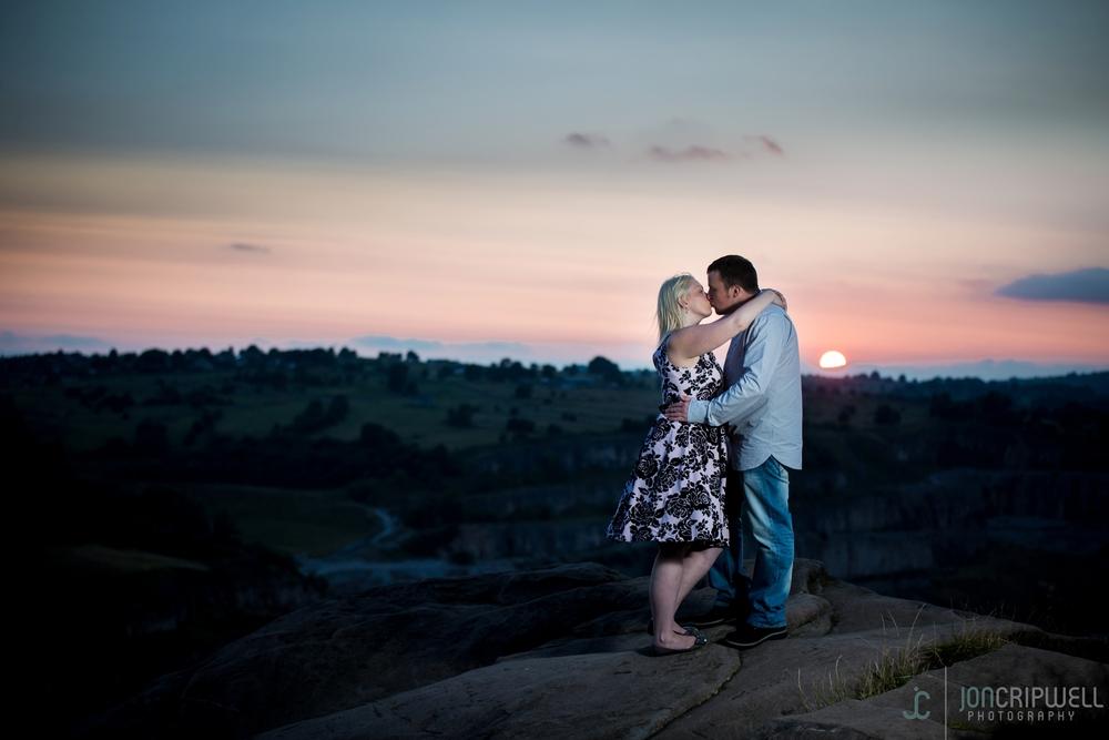 Sunset engagement shoot at Black Rocks Derbyshire