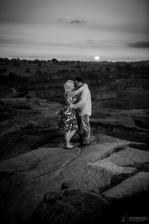 Black Rocks Pr-wedding shoot at sunset